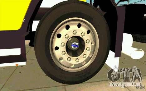 Volvo FH16 Globetrotter DHL für GTA San Andreas Innenansicht