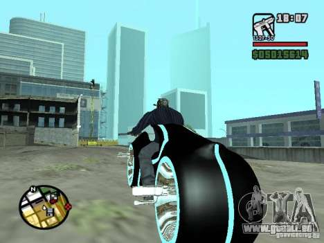 Tron legacy bike v.2.0 für GTA San Andreas zurück linke Ansicht