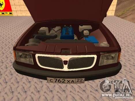 GAZ VOLGA 3110 v1.0 pour GTA San Andreas vue arrière