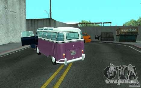Volkswagen Transporter T1 SAMBAQ CAMPERVAN pour GTA San Andreas vue de côté