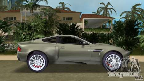 Aston Martin V12 Vanquish 6.0 i V12 48V für GTA Vice City linke Ansicht