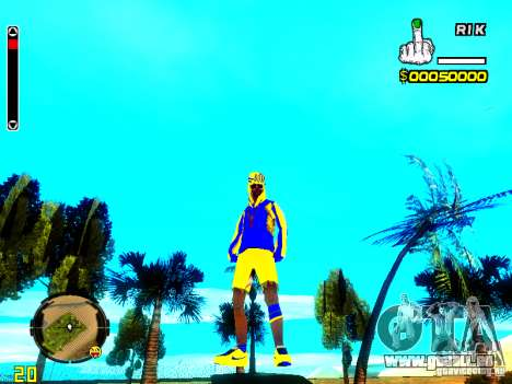 Peau bum v2 pour GTA San Andreas deuxième écran