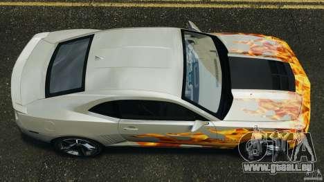 Chevrolet Camaro ZL1 2012 v1.0 Flames für GTA 4 rechte Ansicht