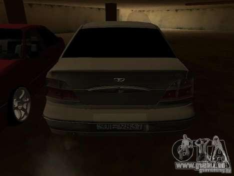 Daewoo Nexia pour GTA San Andreas roue