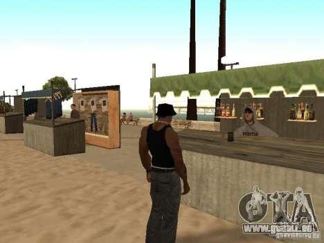 Marché sur la plage pour GTA San Andreas huitième écran