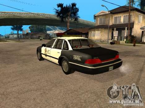 Ford Crown Victoria 1994 Police für GTA San Andreas linke Ansicht