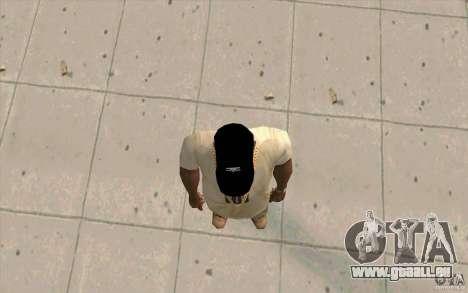 Umbro Cap schwarz für GTA San Andreas dritten Screenshot