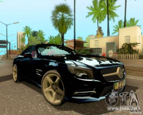 Mercedes-Benz SL350 2013 pour GTA San Andreas vue arrière