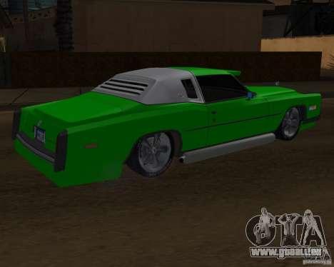 Cadillac Eldorado pour GTA San Andreas vue de dessus