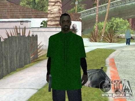 Nouveaux skins le Gang de Grove Street pour GTA San Andreas deuxième écran