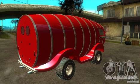 Beer Barrel Truck pour GTA San Andreas vue de droite