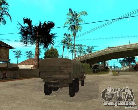 Oural-4230 pour GTA San Andreas sur la vue arrière gauche