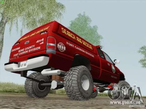 Dodge Ram 3500 Search & Rescue pour GTA San Andreas vue arrière