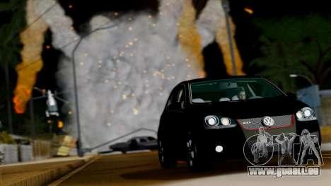 VW Golf V GTI 2006 pour GTA San Andreas vue arrière