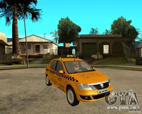 Dacia Logan Taxi Bucegi pour GTA San Andreas vue de droite
