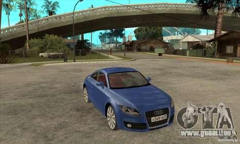 Audi TT 2007 pour GTA San Andreas vue intérieure
