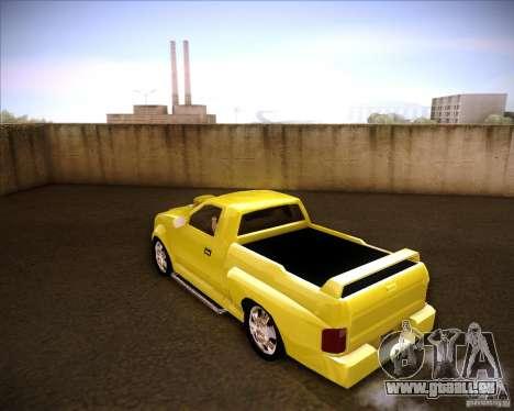Dodge Dakota tuning pour GTA San Andreas laissé vue