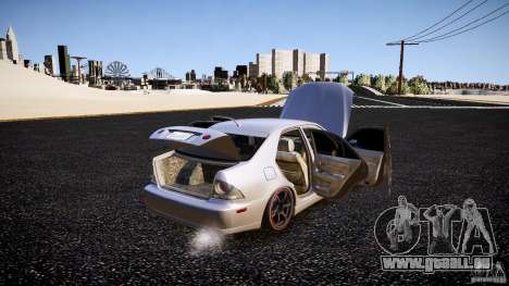 Lexus IS300 pour GTA 4 vue de dessus