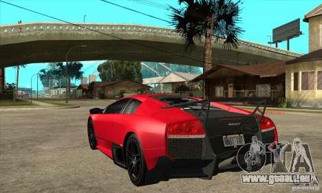 Lamborghini Gallardo LP570-4 SV pour GTA San Andreas sur la vue arrière gauche