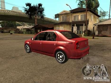 Dacia Logan Rally Dirt pour GTA San Andreas laissé vue