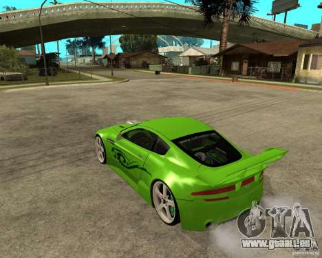 Aston Martin Vantage V8 - Green SHARK TUNING! pour GTA San Andreas laissé vue