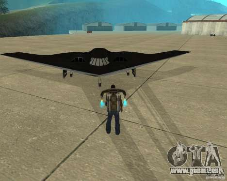 B-2 Spirit Stealth pour GTA San Andreas vue arrière