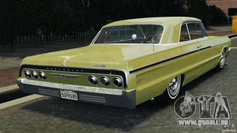 Chevrolet Impala SS 1964 pour GTA 4 Vue arrière de la gauche