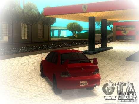Mitsubishi Lancer Evolution IX MR 2006 pour GTA San Andreas sur la vue arrière gauche