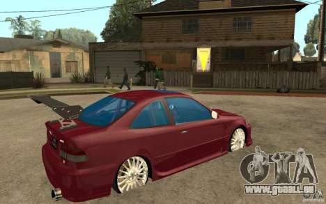 Honda Civic 1998 Tuned pour GTA San Andreas vue de droite