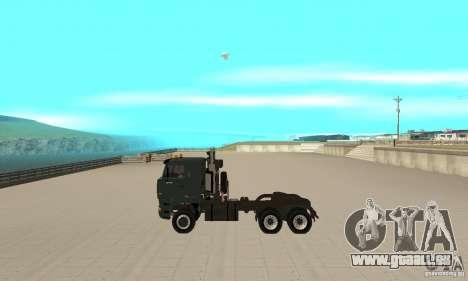 KAMAZ 65226 Tai v1.1 pour GTA San Andreas sur la vue arrière gauche
