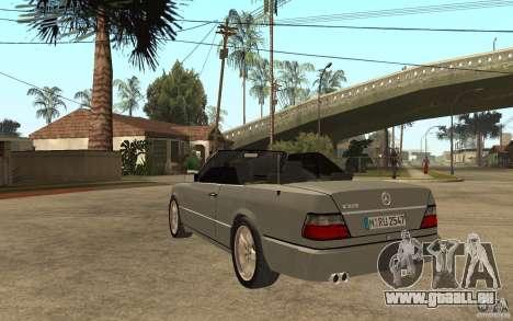 Mercedes-Benz E320 C124 Cabrio für GTA San Andreas zurück linke Ansicht