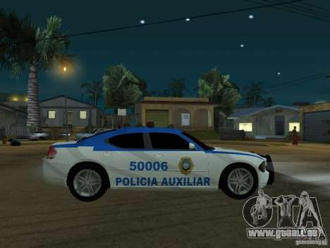 Dodge Charger Police pour GTA San Andreas laissé vue