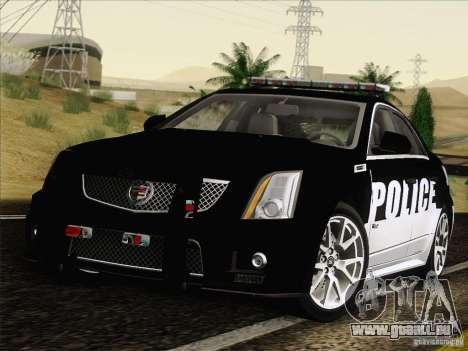 Cadillac CTS-V Police Car pour GTA San Andreas sur la vue arrière gauche