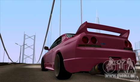 Nissan Skyline GTR 33 Fatlace für GTA San Andreas rechten Ansicht