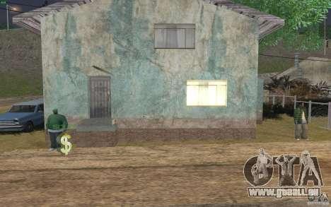 La maison du vert pour GTA San Andreas cinquième écran