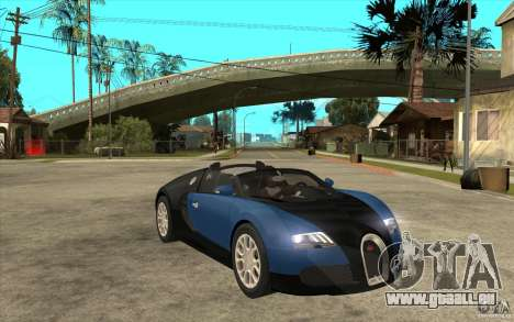 Bugatti Veyron Gran Sport 2011 für GTA San Andreas Rückansicht