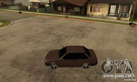 21099 Coupé de Lada ВАЗ pour GTA San Andreas laissé vue