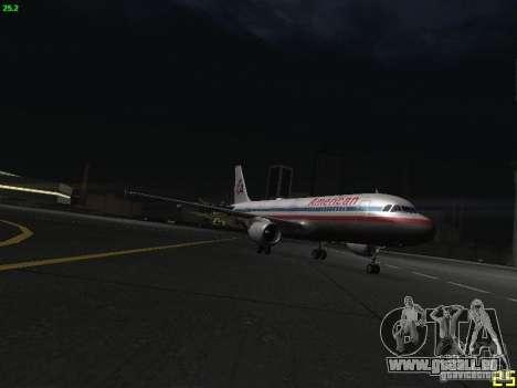Airbus A320 pour GTA San Andreas vue intérieure