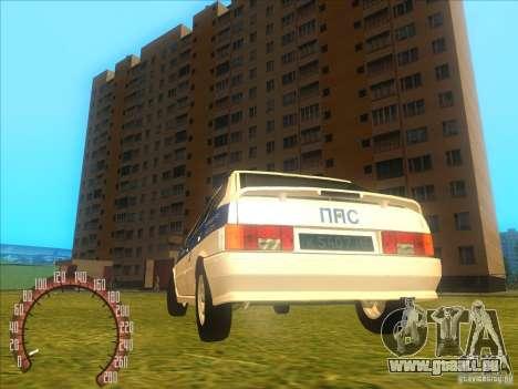 ВАЗ 2114 Police russe pour GTA San Andreas sur la vue arrière gauche