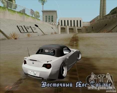 BMW Z4 Hellaflush pour GTA San Andreas vue arrière