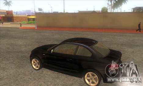 BMW 135i (E82) pour GTA San Andreas vue de droite