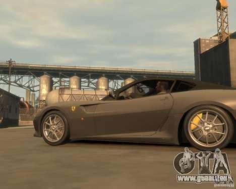 Ferrari 599 GTO pour GTA 4 est une gauche