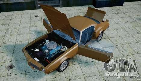 Pontiac Firebird 1970 pour GTA 4 vue de dessus
