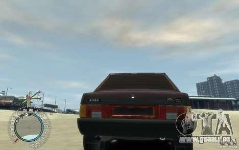 VAZ 21099 Duplet pour GTA 4 Vue arrière