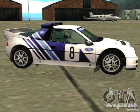 Ford RS200 rally für GTA San Andreas linke Ansicht