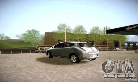 Nissan Leaf 2011 pour GTA San Andreas laissé vue