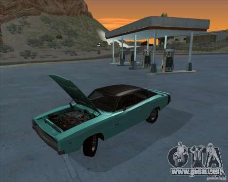Dodge Charger RT HEMI 1968 pour GTA San Andreas sur la vue arrière gauche