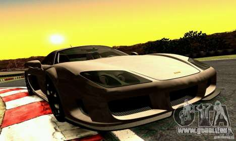 Noble M600 2010 V1.0 für GTA San Andreas Innenansicht