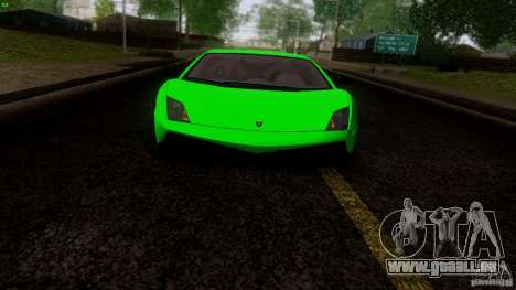Lamborghini Gallardo LP570-4 Superleggera für GTA San Andreas Rückansicht