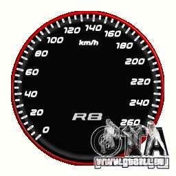 Tachometer IV (9 Skins) für GTA 4